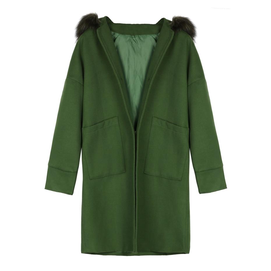 buy hooded women coat winter faux fur. Black Bedroom Furniture Sets. Home Design Ideas