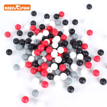 Keep&grow 50Pcs/lot Round Perle Silicone Beads 12mm BPA Free Teething Necklace Food Grade Mom Nursin
