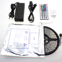 Hot sale suit SMD led strip 5050 waterproof rgb led strip IP65 5M 300 LEDs/Roll + 44 keys IR Remote+12V 6A Power Adapter