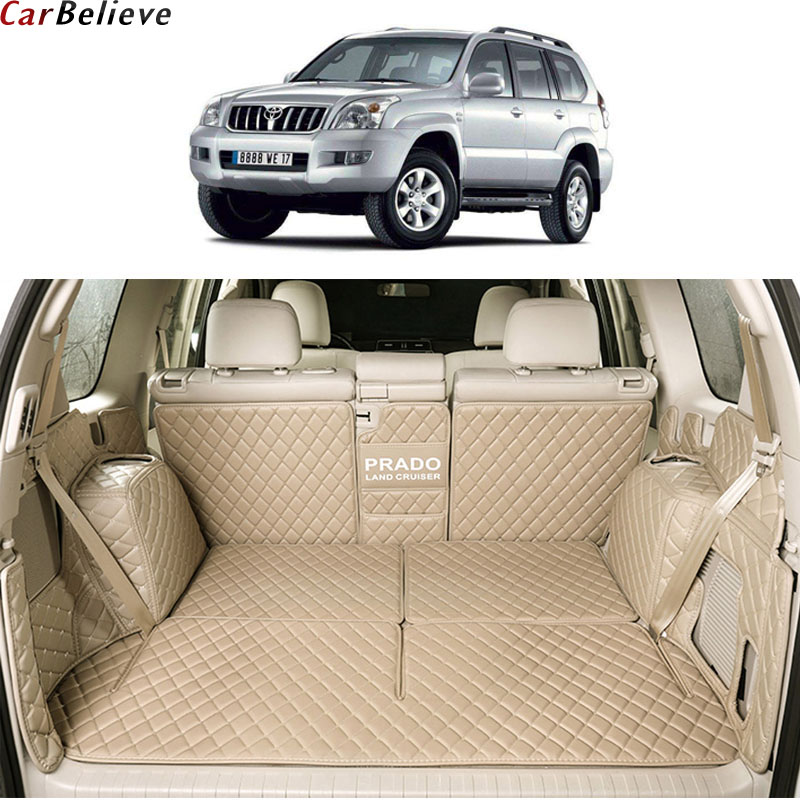 Car Believe car trunk mat For toyota land cruiser prado 120 150 Accessories 7 seats Cargo Liner Interior  Carpet car styling Toyota Land Cruiser