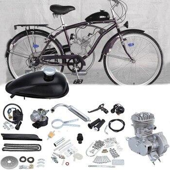 50cc rower motocykl zestaw do silnika benzynowego 2 suwowy kompletny silnik zestaw do DIY rower elektryczny rower górski silnik gazowy