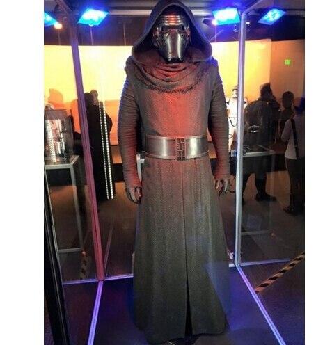 Star Wars 7 la fuerza despierta Kylo Ren adulto uniforme negro capa con  capucha película Jedi 166bdf592ea5