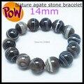 Nature Lace Agate stone bracelet agate beads top fashion bracelet size 14mm 1 pieces