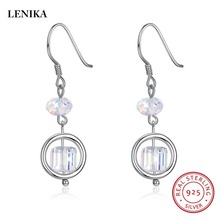 cb9b8a34c LEKANI Beads Drop Earrings For Women Crystals From SWAROVSKI Element S925  Sterling Silver pulseira feminina(
