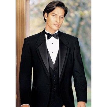 2017 Customized Mens Suits For Wedding Prom (Jacket+Pants+Vest) Classic Groom Tuxedos Groomsmen Best Man Suit Blazers Regular