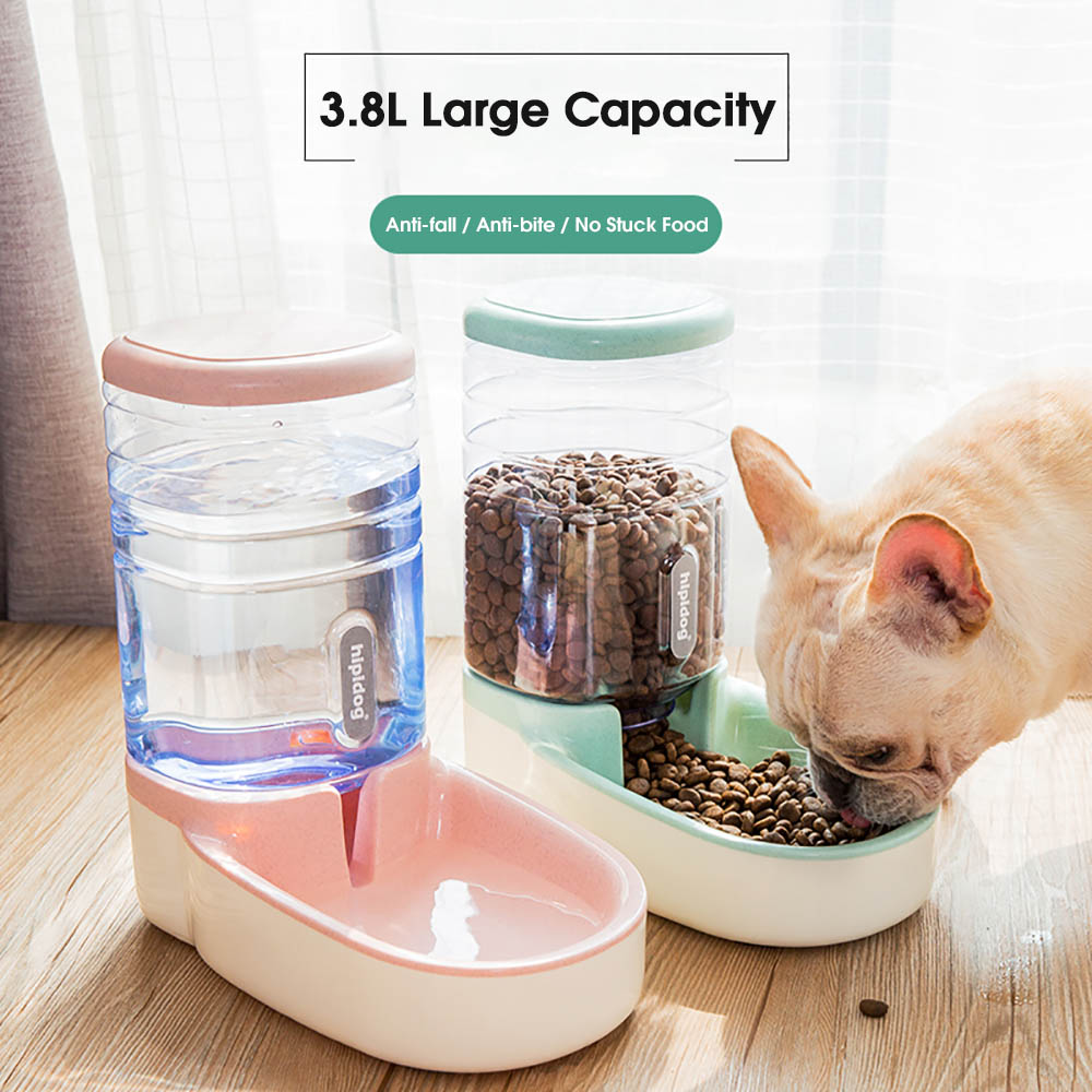 3.8L Automatic Pet Feeder Bowl For Cats Drinking Bowls For Dogs Food Container Animal Water Dispenser Cat Fountain Pet Supplies