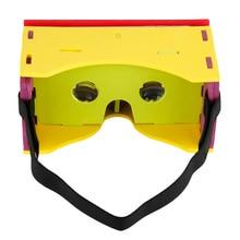 Eva DIY Gadget para Google Papelão VR Visor de Realidade Virtual Óculos 3D IMAX NFC