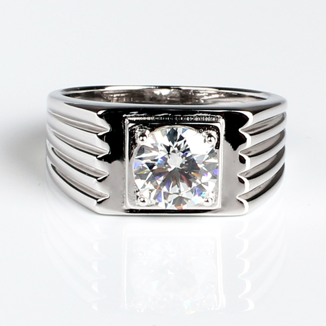 2ct Lab Created Diamante Ring for Men 925 Sterling Silver Wedding