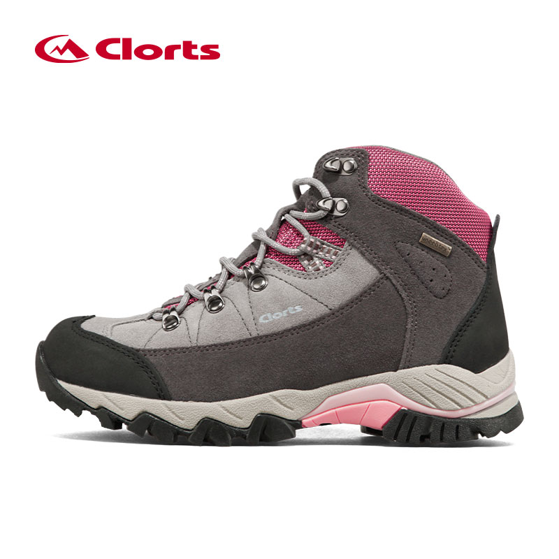 Clorts Women Trekking Boots Suede Leather Mountain Boots Outdoor Waterproof Hiking Shoes For Woman Climbing Shoes Boots 3B010A 2016 man women s brand hiking shoes climbing outdoor waterproof river trekking shoes