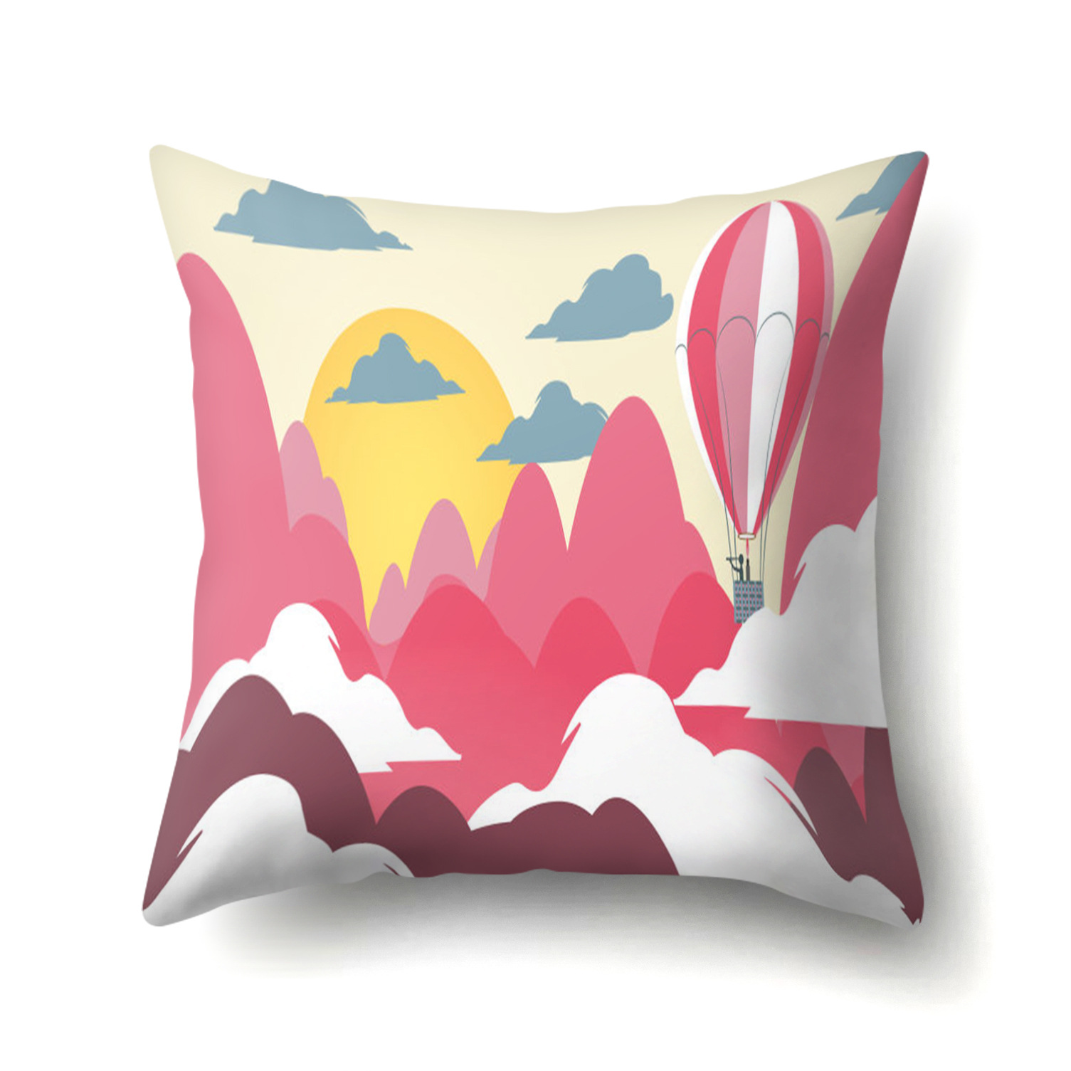 Landscape Pattern Cushion Cover City Countryside Beautiful Scenery Pillowcases Sofa Bed Living Room Decorative Covers Home Decor in Cushion Cover from Home Garden