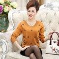 свитер женский кофта женская свитера кофты женские Женщины зимой свитер жира мать загружалась шерстяной свитер плюс жира код свитер среднего возраста женщин рендеринга рубашка