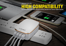 LDNIO 4 USB Multi Ports 4.4A  Fast Charger AU US Plugs Wall Travel Charger For iphone 5/6/7 ipad Samsung LG