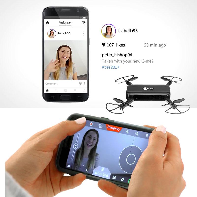 Hélicoptère Drone RC quadrirotor 8MP caméra numérique GPS maintien d'altitude HD 1080 P vidéo avec Flash LED médias sociaux g-sensor