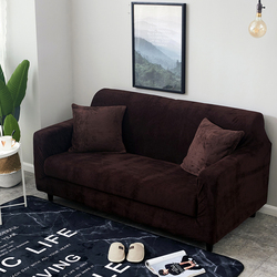 1pc Plush Thicken Universal Sofa Cover All-inclusive Elastic Sectional Couch Cover Anti-dirty Sofa Covers for Living Room