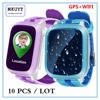 10 Pcs / LOT DS18 GPS WiFI Smart baby watch Locator Tracker SOS Call SMS Support SIM Card for kids safe PK Q50 Q80 Q750 Q90