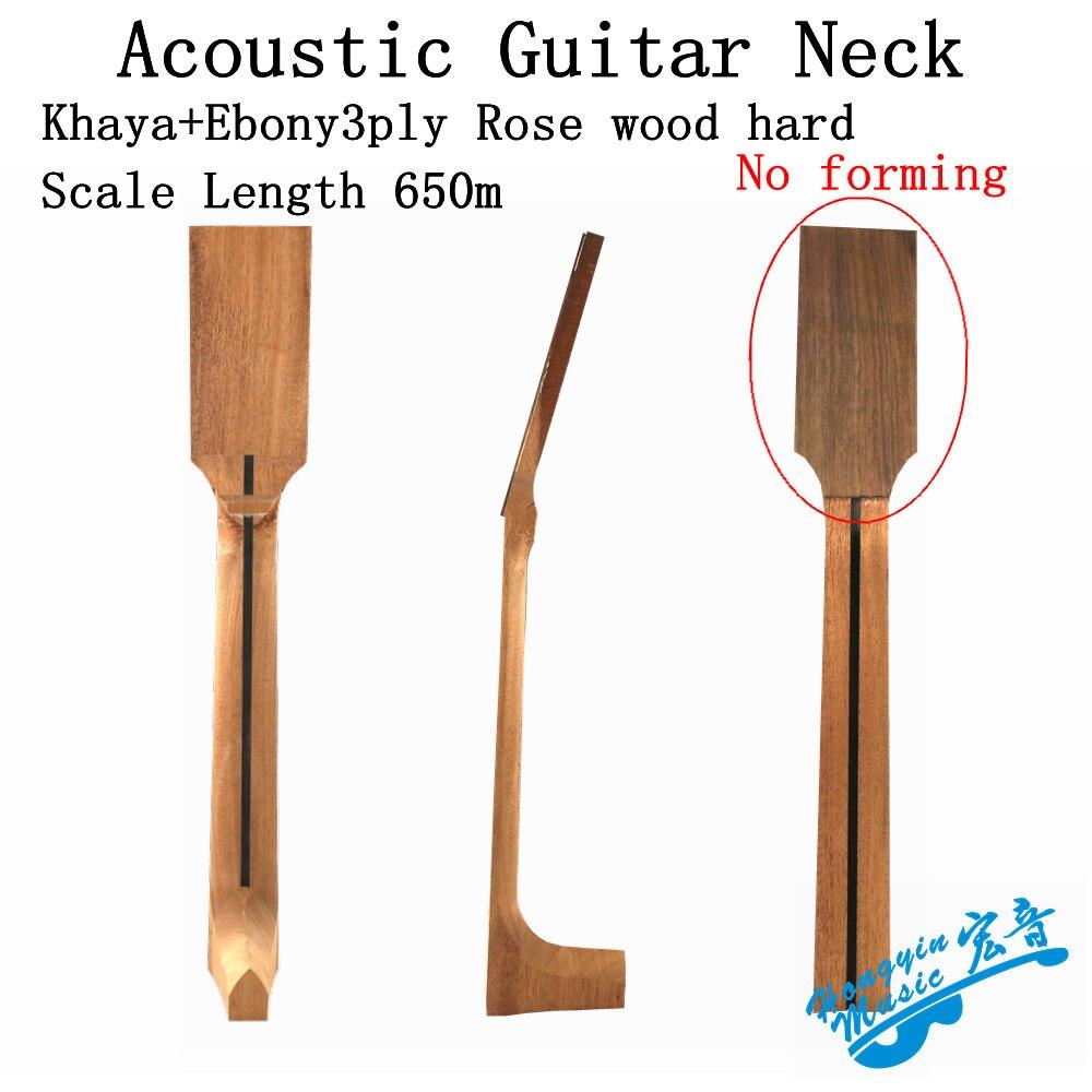 Acoustic Guitar Neck for Folk Guitar Replacement Luthier Repair DIY Unfinished Mahogany Head Veneer