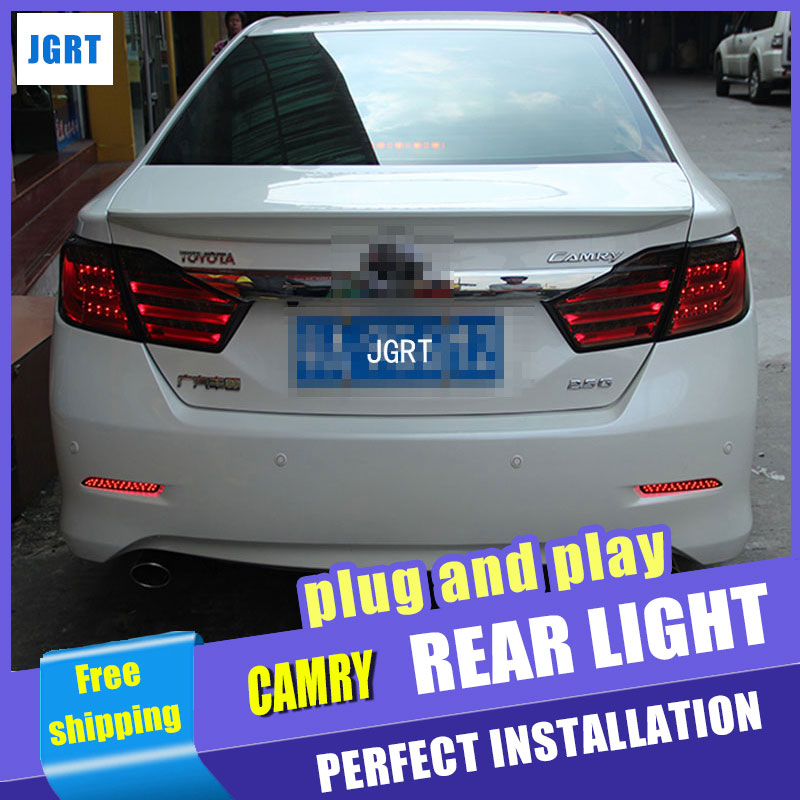 Car Styling for Toyota Camry Taillights 2012 Camry V50 LED Tail Light Aurion Rear Lamp DRL+Brake+Park+Signal ipcc ipcc h03 1 0 mp mini wireless p2p onvif waterproof ip bullet camera w 18 ir led white