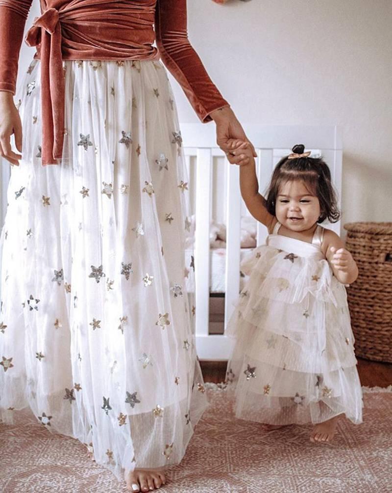 892379ff57 2019 summer beach dress mother daughter dresses long maxi bandage ...