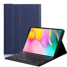 حافظة لهاتف سامسونج جالاكسي تاب S5E 10.5 بوصة تابلت 2019 (SM T725/T720) ، غطاء حماية لوحة مفاتيح بلوتوث لاسلكي قابل للإزالة