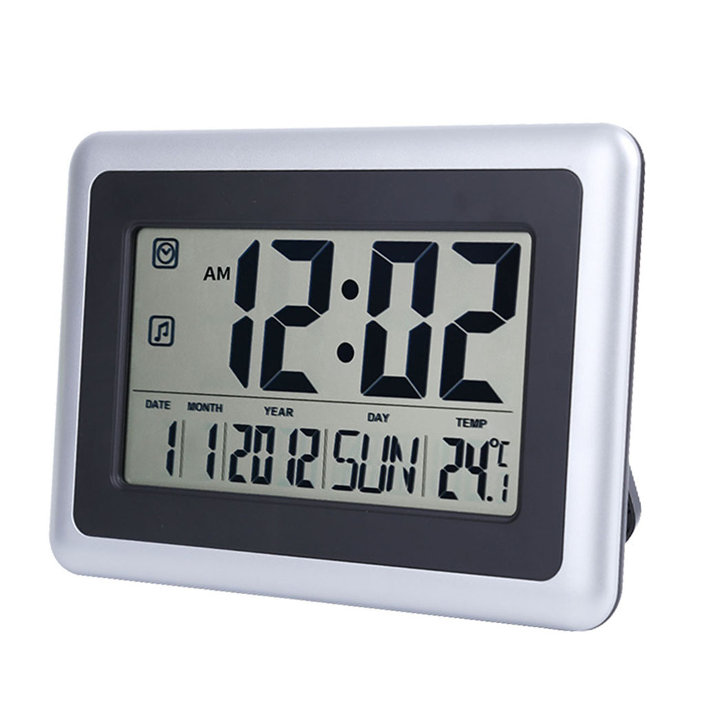 LCD Digital Alarm Clocks Student Clocks With Week Time Date Thermometer Watch Electronic Table Calendar