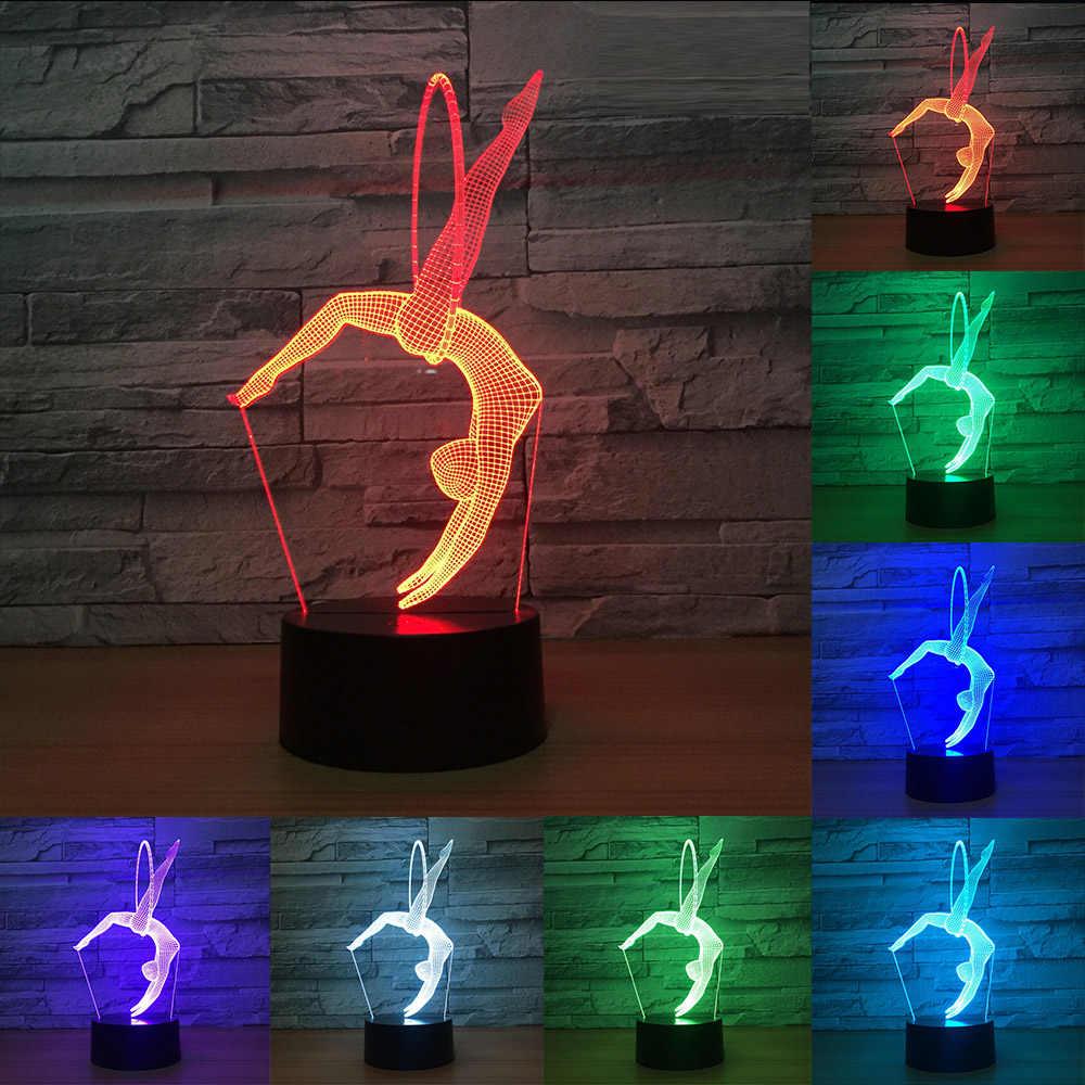 3d Led Lampe 7 Farben Tisch Schreibtisch Licht Acryl Illusion Zimmer Atmosphare Beleuchtung Ball Sport Eishockey Kunstlerische Physikalische Geschenk Aliexpress