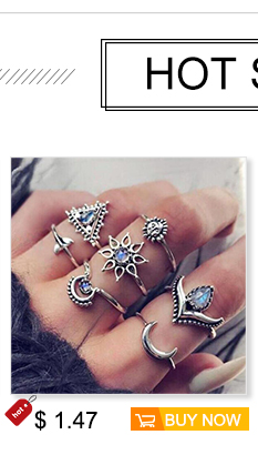 4d69e8782fe9f 13pcs/Set Bohemia Antique Silver Crown Flower Unicorn Carved Rings Sets  RhineStone Knuckle Rings for