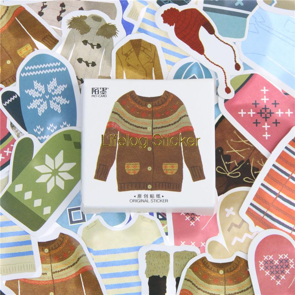 45 Pcs lot Fashion Clothes Shoes Mini Paper Toys Sticker Decoration Diy Ablum Diary Scrapbooking Label