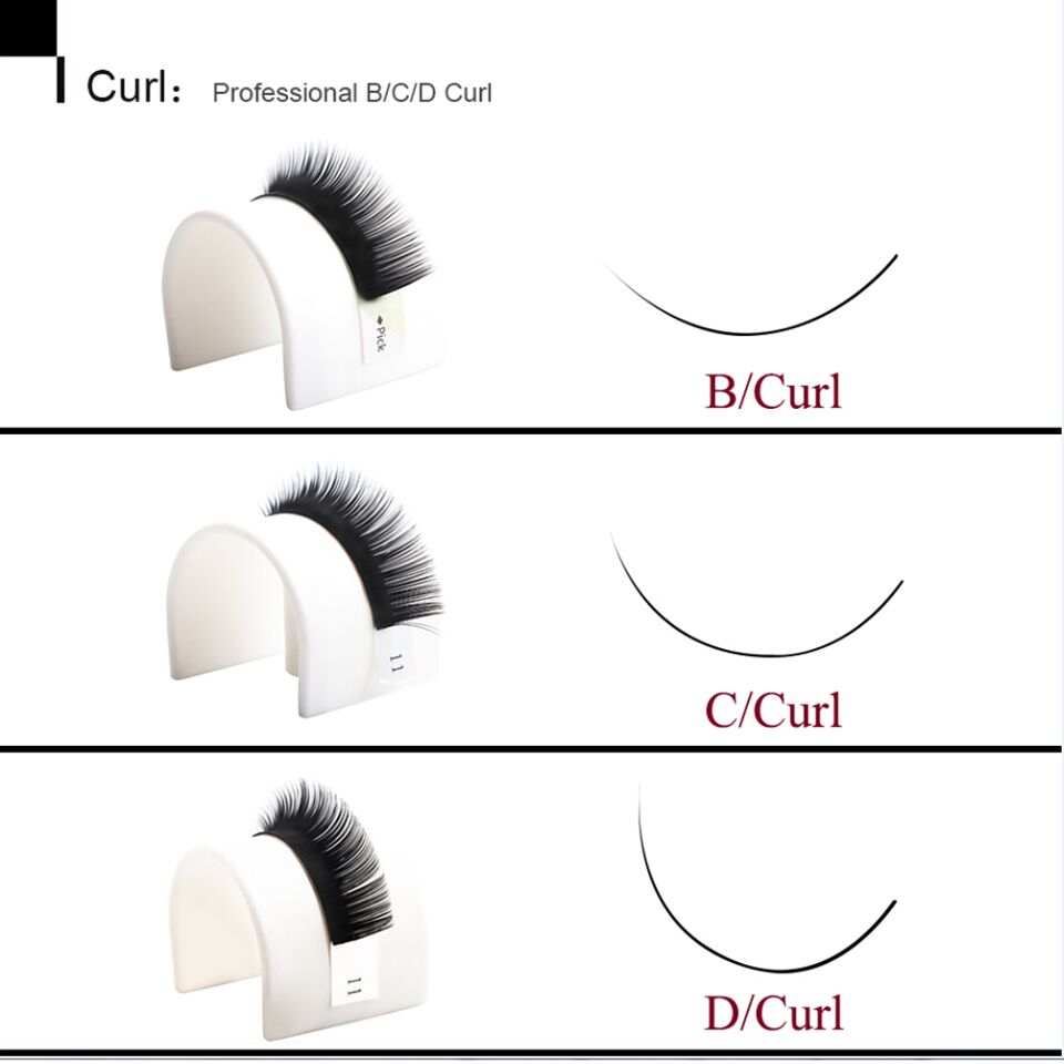 a7a1ea3c945 NEWCOME Mix Length BCD Curl Individual Eyelash Extension 8mm to 14mm ...