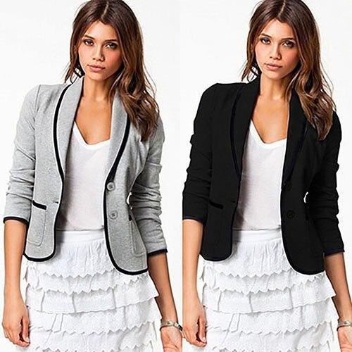 Newest Fashion Women Slim OL Button Long Sleeve Business Blazer Jacket Coat Outwear