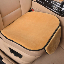 Winter Short Plush Car Seat Cushion 2 Pcs Warm Small Square Pad Without Backrest Covers Mat / Soft And Comfortable
