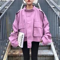 Tooling Jacket Women High Street Loose Korean Ulzzang Tops Coat Outwear Fashion Harajuku Style Bomber Windbreaker Chaqueta Mujer