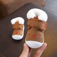 Toddler Baby Girl Shoes Winter Kids Soft Bottom Antiskid Infant First Walkers