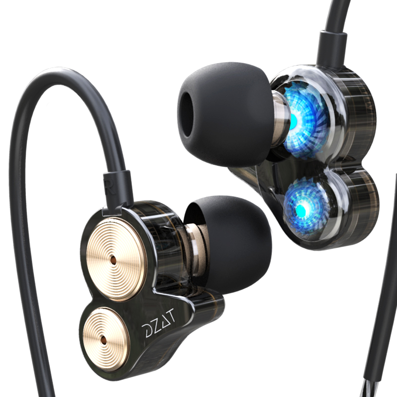 HIFI Sound 4 Speakers DT-05 Stereo Headphones In-ear with Microphone Wired for Mobile Phone Music Earphone Noise Cancelling golf baroque noise cancelling stereo sound 3 5mm jack music earphones for iphone 6 ipad samsung lg htc moto mobile phone earbuds