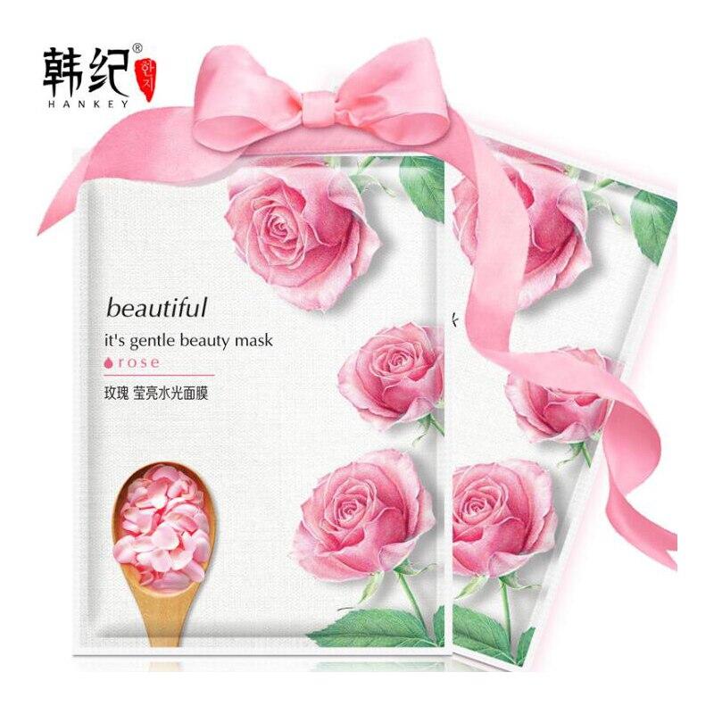 HANKEY Honey Aloe Rose Tea Cucumber Pomegranate Plants Facial Mask for Face Mask Skin Care Moisturizing Brightening Nourishing