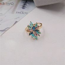 Romad Women Fashion Jewelry Multicolor Crystal Ring With AAA Cubic Zircon Wedding Ring romad women fashion jewelry multicolor crystal ring with aaa cubic zircon wedding ring