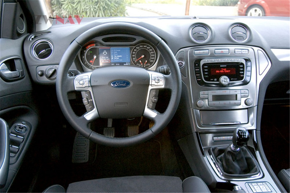 ZWNVA Tesla style Écran Android 7.1 RAM 2 gb ROM 64 gb Voiture Lecteur GPS Navigation Radio Écran Pour Ford mondeo MK4 2007-2012