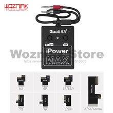 Qianli para o iphone 6 6p 6s 6sp 7 7p 8 x xs xsmax ipowermax cabo de controle de alimentação da bateria linha de alimentação ipower max