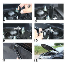 2pcs Car Front Stainless Steel Supporting Rod Hydraulic Hood Jackstay Engine Cover Fit for Honda CRV CR-V 2017 2018 Car Styling