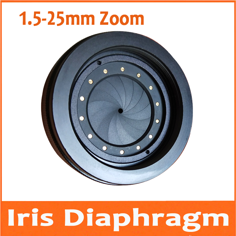 1 5mm To 25mm Zoom Amplifying Adjustable Metal Iris Diaphragm Aperture Condenser Camera lens Adapter M42