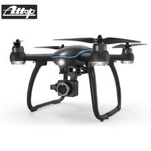 ATTOP вертолет Drone с камера HD 1080 P Wi Fi FPV системы бесщеточный двигатель 5 г селфи Дрон Professional складной Квадрокоптер
