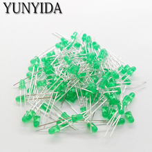 Green 14-17  3mm  LED   Green  light-emitting diode  200pieces/lot AAAAA
