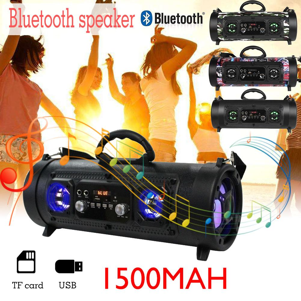 New Outdoor Portable Bluetooth Speaker 15W Subwoofer Multi-functional Card Insert Microphone Speaker Wireless Stereo Speaker leory sy1602 newest outdoor portable bluetooth speaker 15w 2000mah wireless subwoofer speaker with microphone multicolor