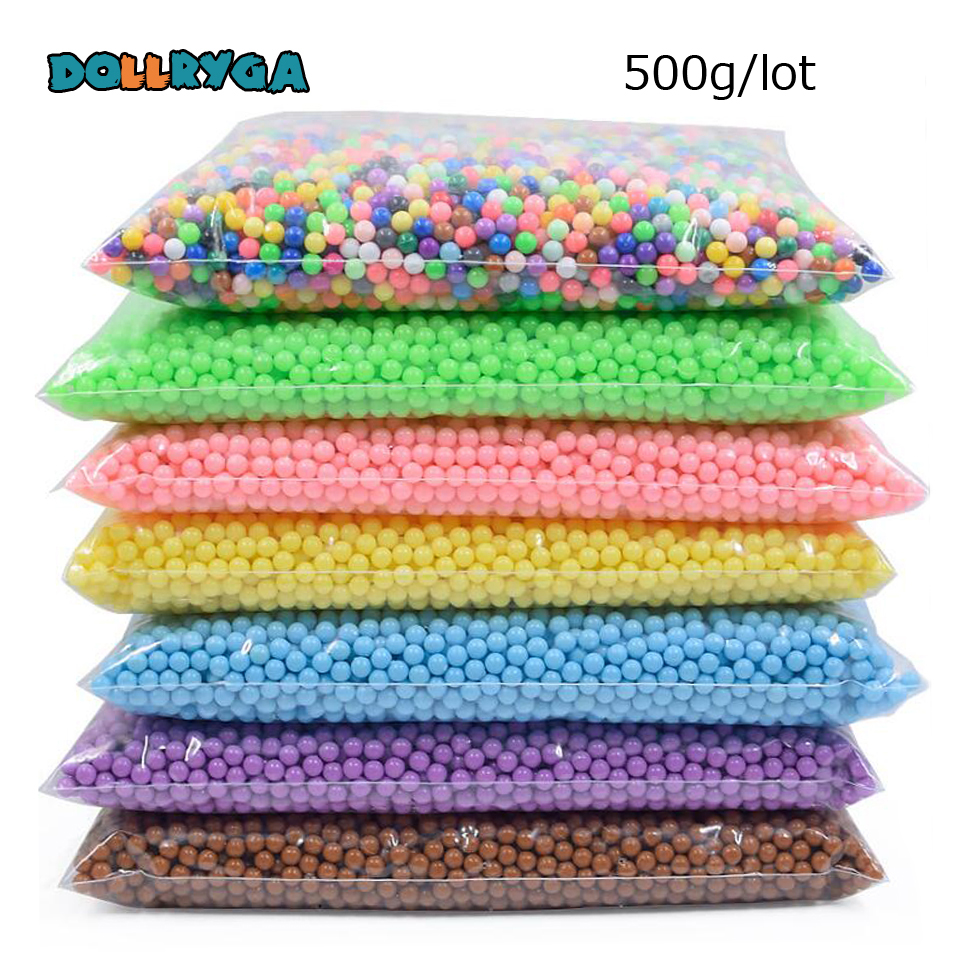 DOLLRYGA DIY Water Spray Magical Beads 500g 6000pcs Aqua DIY Bead Transparent Colors Solid Beads Gift For Children Art And Craft