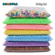 DOLLRYGA DIY Water Spray Magical Beads 500g 6000pcs Aqua Bead Transparent Colors Solid Gift For Children Art And Craft