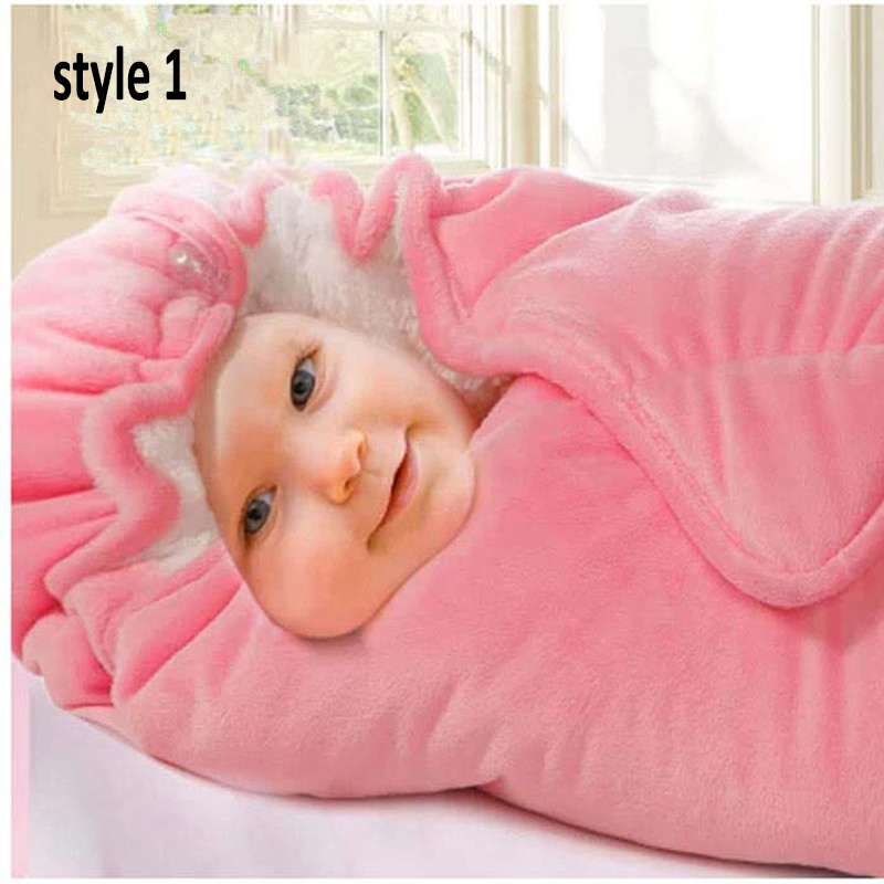 NAET cher winter warm baby sleeping bag soft velvet envelope Newborn envelope receiving Blanket Sleeping bag infant wrap swaddle