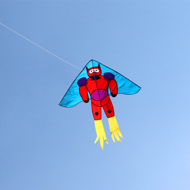 Free Shipping High Quality Large Robot Kite Line Ripstop Nylon Kites For Kids Outdoor Toys Flying Reel Kiteboard Windsock Emma