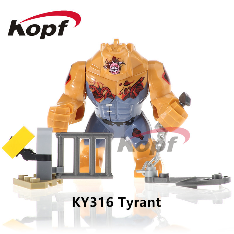 Single Sale Super Heroes The Biochemical Big Size Tyrant Great King Jenny Bill Bricks Building Blocks Children Gift Toys KY316 single sale super heroes master wu garmadon nya the wei snake lloyd bricks ninja movie building blocks children gift toys pg1020