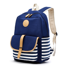 Элегантный дизайн рюкзак для женщин и девочек полосатый холст рюкзак для отдыха школьные рюкзаки для подростков путешествия рюкзак