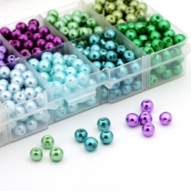 6mm 550 unids Color Mezclado Redondo Perlas de Perlas de Imitación - Bisutería - foto 4