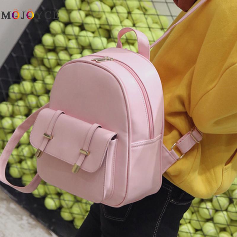 3pcs/set Pu Leather Women Backpack Girls Solid Shoulder Mini Backpack Lady Composite Bag Mochila Feminina #3